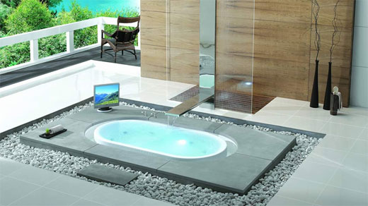luxury and modern  bathtub
